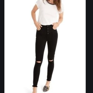 NWT Madewell High Rise Jeggings Distressed Jeans